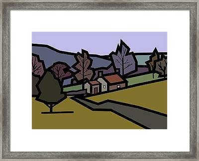 Adam's Farm Framed Print by Kenneth North