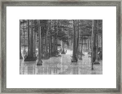 Adams Mill Pond 25 Bw Framed Print