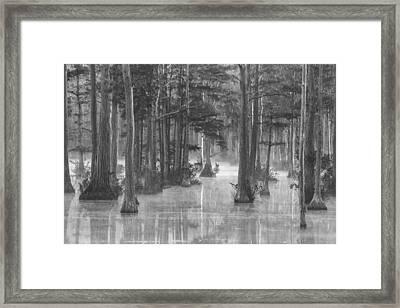 Adams Mill Pond 25 Bw Framed Print