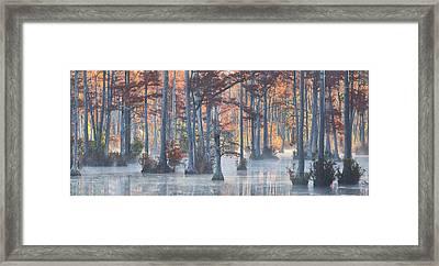 Adams Mill Pond Panorama 11 Framed Print