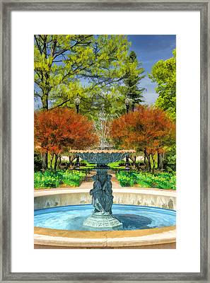 Adams Park Fountain Framed Print by Christopher Arndt