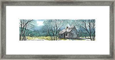 Framed Print featuring the mixed media Adams Ranch Headquarters King County Texas by Tim Oliver