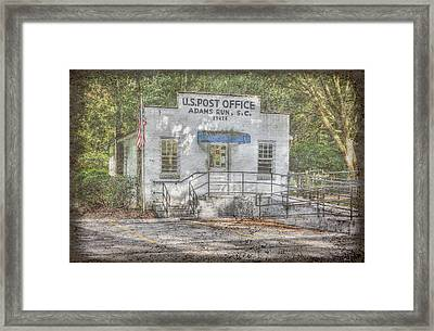 Adams Run Framed Print