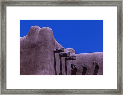 Adboe Building Detail Framed Print by Garry Gay