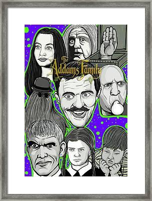 Addams Family Portrait Framed Print by Gary Niles