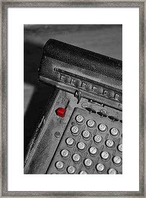 Adding Machine Three Framed Print by Todd Hartzo