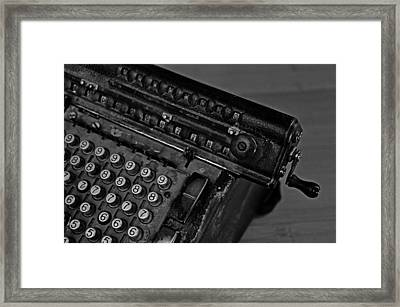 Adding Machine Two Framed Print by Todd Hartzo