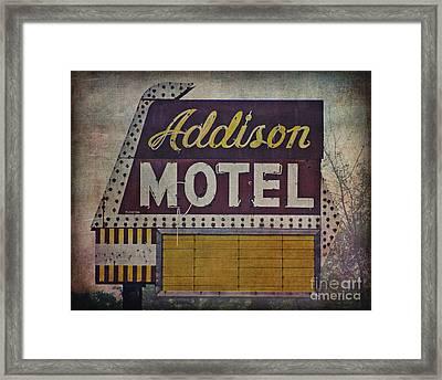 Addison Motel In Chicago Framed Print by Emily Kay