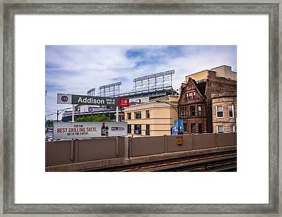 Addison Street Station Framed Print