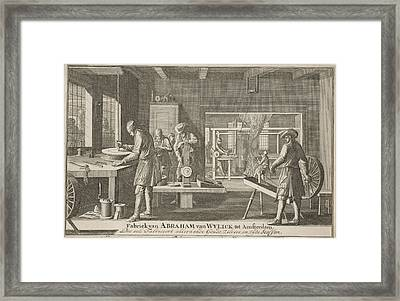 Address Card Of Abraham Van Wylick, Caspar Luyken Framed Print