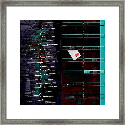 Addressed To The Heart Framed Print by Maria Jesus Hernandez