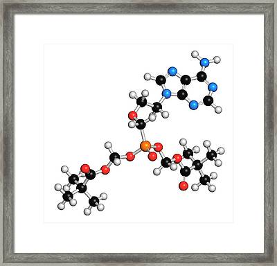 Adefovir Dipivoxil Hepatitis B Drug Framed Print by Molekuul