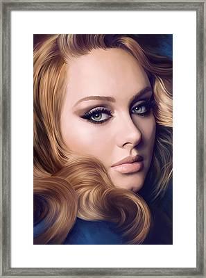 Adele Artwork  Framed Print by Sheraz A