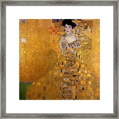Adele Bloch Bauers Portrait Framed Print by Gustive Klimt