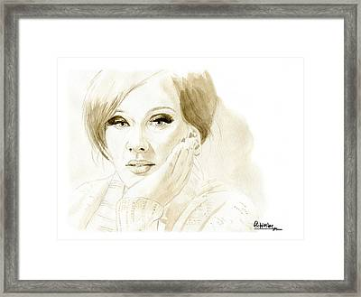 Adele Framed Print by David Iglesias