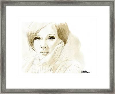 Adele Framed Print by David Iglesias