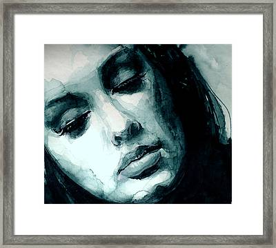 Adele In Watercolor Framed Print by Laur Iduc