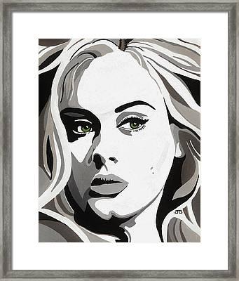 Adele Framed Print by Jesse Glenn