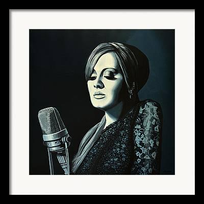 Adele Paintings Framed Prints