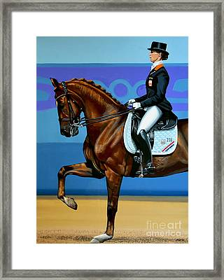Adelinde Cornelissen On Parzival Framed Print by Paul Meijering
