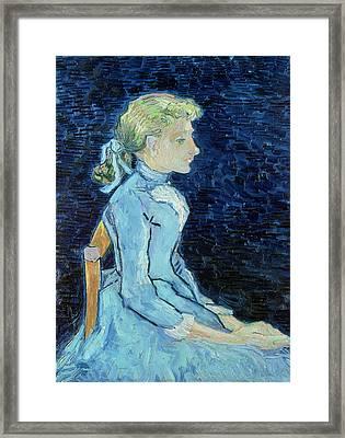 Adeline Ravoux, 1890  Framed Print by Vincent van Gogh