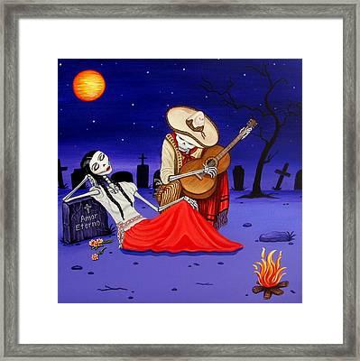 Adelita Y Juan Cementery Framed Print by Evangelina Portillo