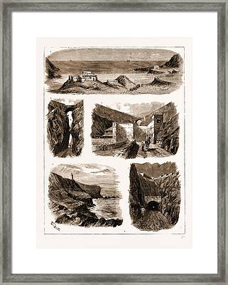 Aden, 1883 1. The Brigade Majors Office And Royal Artillery Framed Print