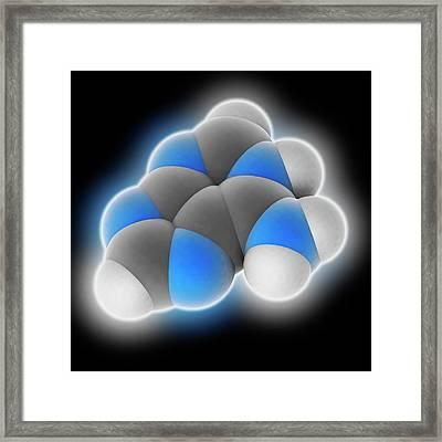 Adenine Molecule Framed Print