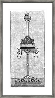 Ader Telephone Station Framed Print