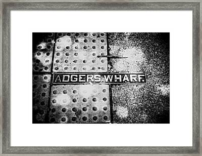 Framed Print featuring the photograph Adgers Wharf by Sennie Pierson