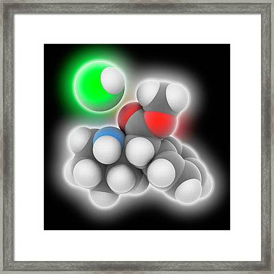 Adhd Drug Molecule Framed Print by Laguna Design
