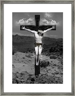 Jesus Christ Intact Framed Print by Quim Abella