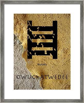 Adinkra  Owuo Atwedee Framed Print