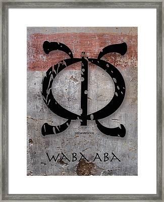 Adinkra Waba Aba Framed Print by Kandy Hurley