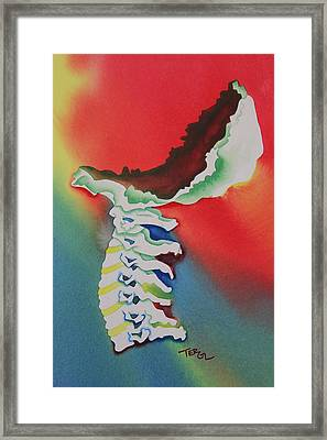 Adio Above Down Inside Out Framed Print by Teresa Grace Fourre