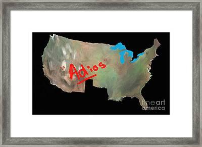 Adios Framed Print by GCannon