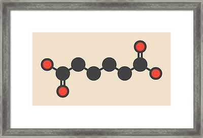Adipic Acid Nylon Building Block Molecule Framed Print by Molekuul