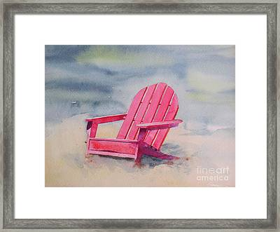 Adirondack At The Beach Framed Print