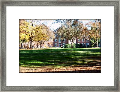Adirondack Chairs 6 - Davidson College Framed Print by Paulette B Wright