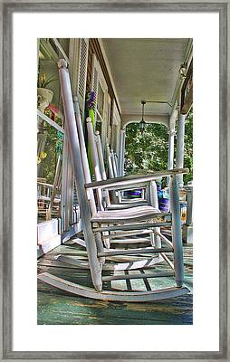 Adirondack Chairs At Skaneateles Ny Framed Print
