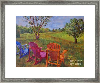Adirondack Chairs In Leiper's Fork Framed Print by Arthur Witulski