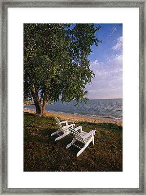 Adirondack Chairs Framed Print