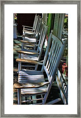 Adirondack Chairs Skaneateles Ny Framed Print