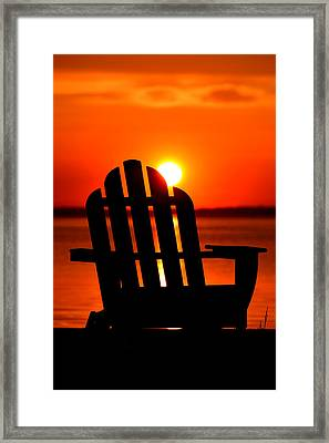 Adirondack Days End Framed Print