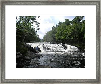 Adirondack Falls Framed Print by Jason  Horvath