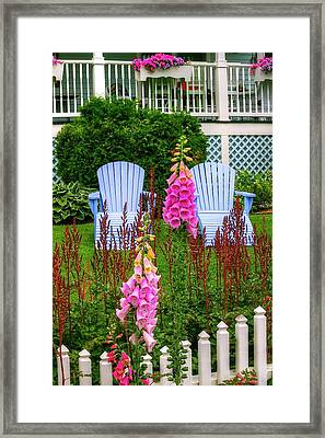 Adirondack Garden Framed Print