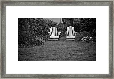 Adirondack Lawn Chair Monotone Framed Print by Berkehaus Photography
