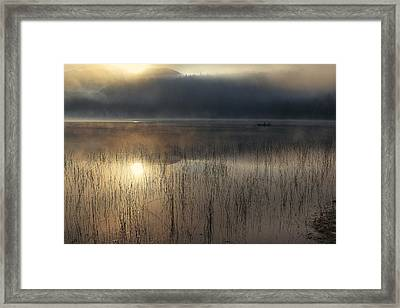 Adirondack Sunrise Framed Print by Magda  Bognar
