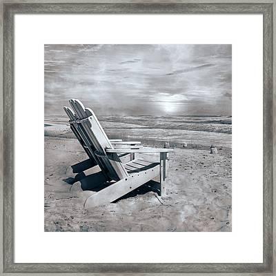 Adirondack Sunrise Topsail Island Framed Print by Betsy Knapp