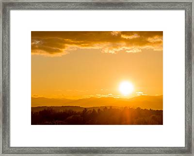 Adirondack Sunset Framed Print